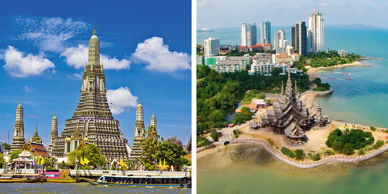 Kombineeritud pakett Bangkok(3 ööd)-Pattaya(ülejäänud ööd) hotell (Bangkok, Tai)