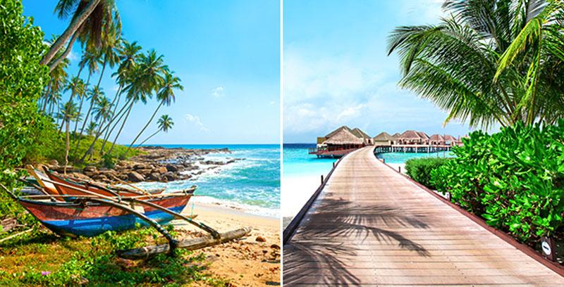 Kombineeritud pakett Sri Lanka-Maldiivid